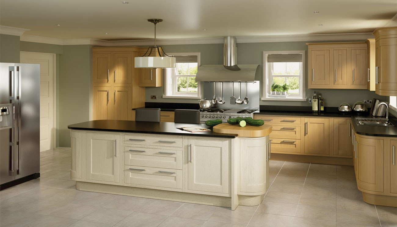 Impressive Ivory Kitchen with Oak Cabinets 1300 x 744 · 145 kB · jpeg