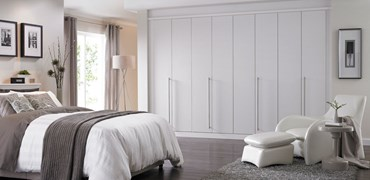bedroom furniture fitted. Cassia White Bi-Fold Bedroom Furniture Fitted