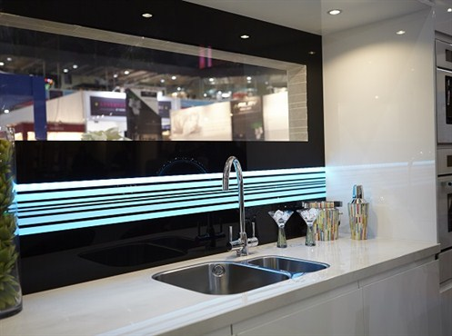Feature LED Colour -changing Splashback