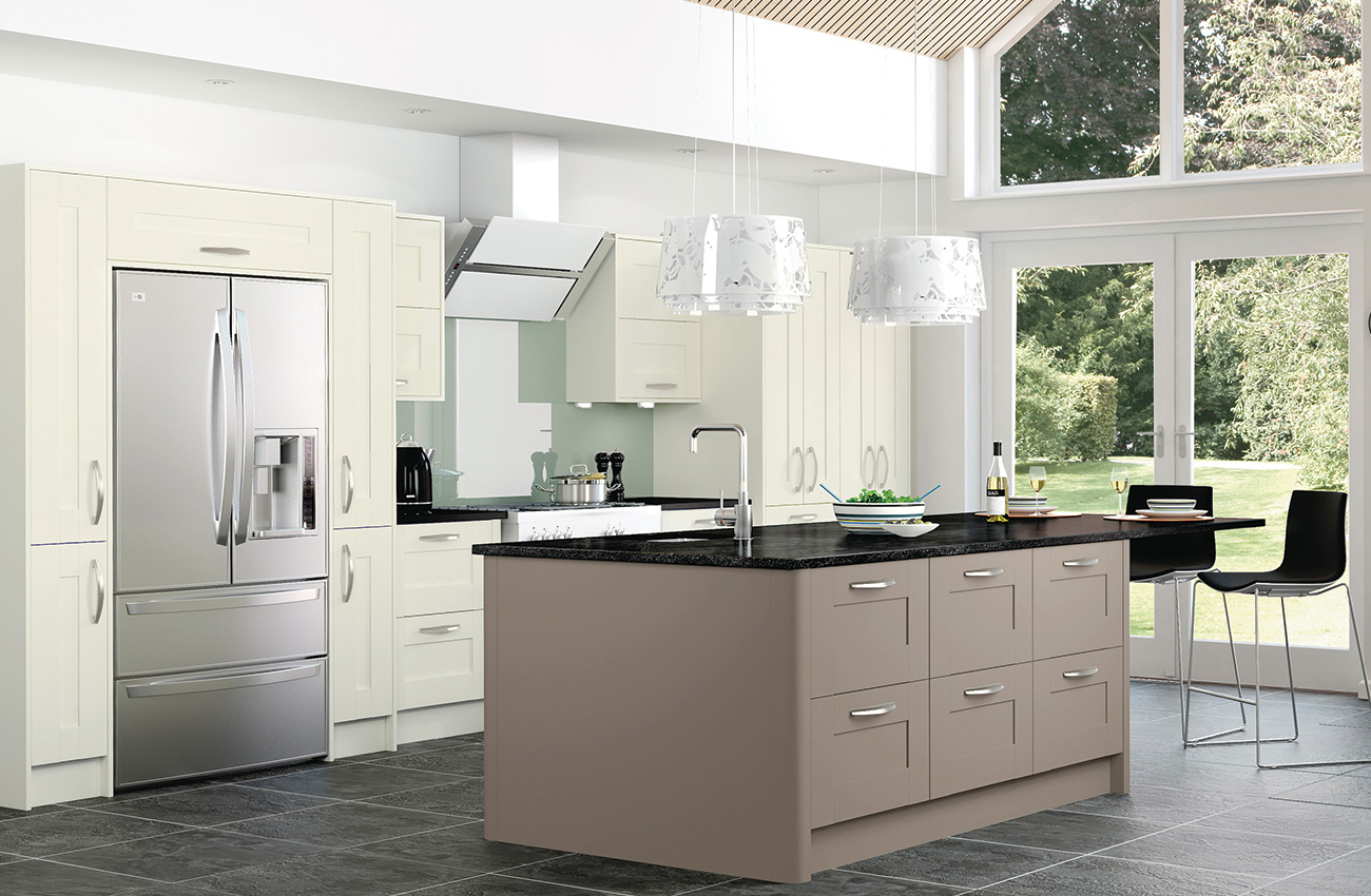 Fitted kitchens new kitchen designs betta living uk for Coloured kitchen units uk