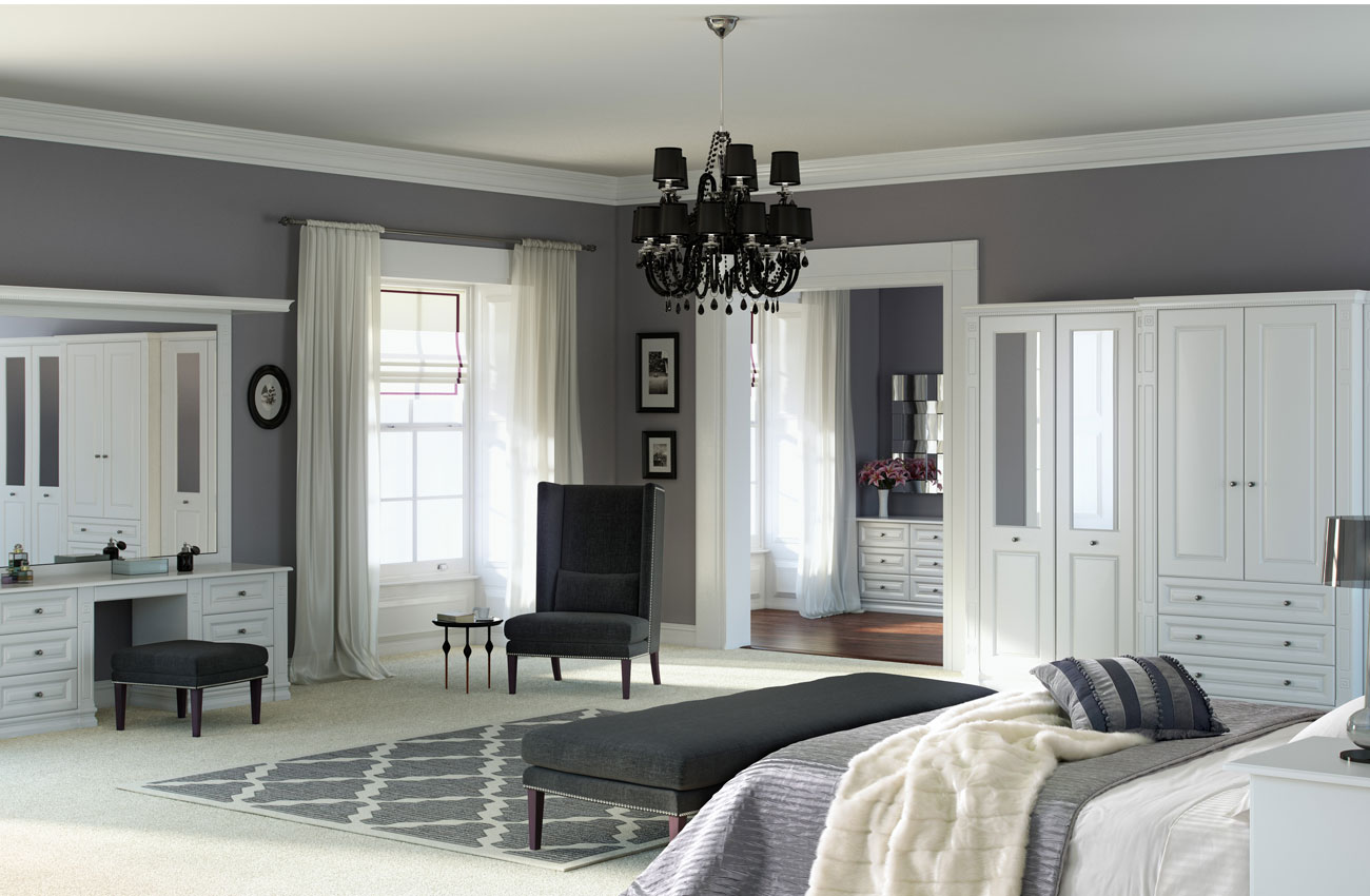 Portafino White Fitted Bedroom