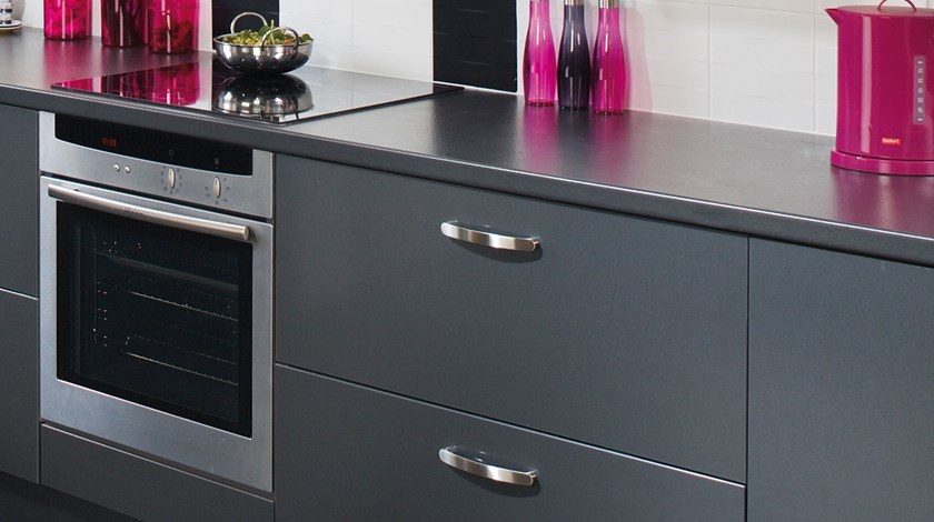 Tampa Anthracite Kitchen Fitted Kitchens From Betta Living - Anthracite grey kitchen
