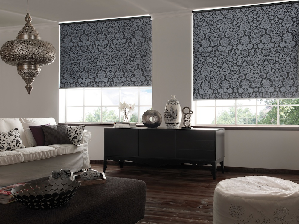 Apollo Blinds Silver Glamour Roller Blind