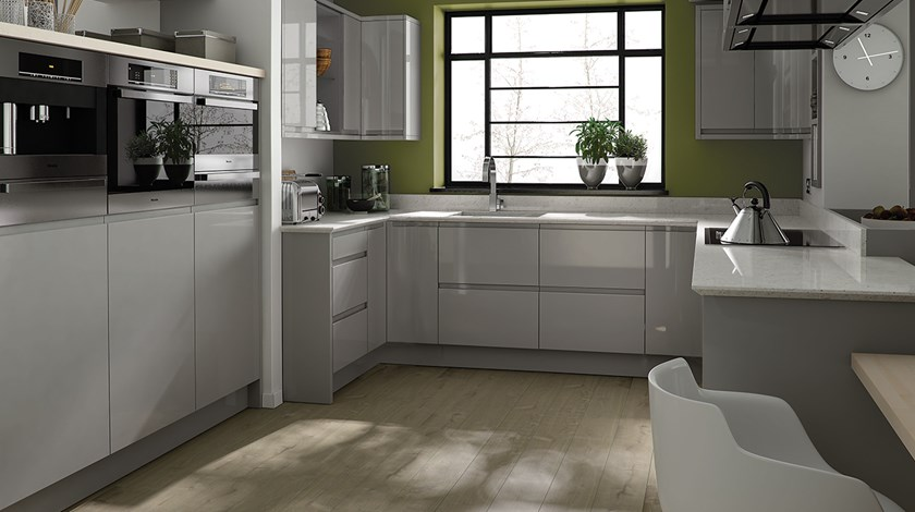 Linear Dove Grey Kitchen Fitted Kitchens From Betta Living - Grey fitted kitchens