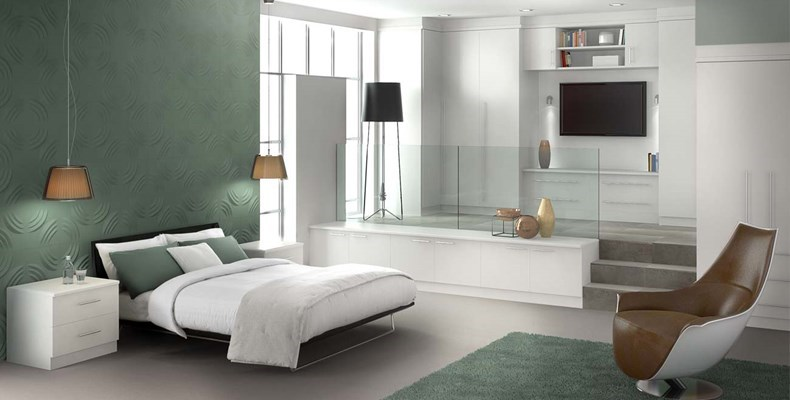 Allure White Fitted Bedroom