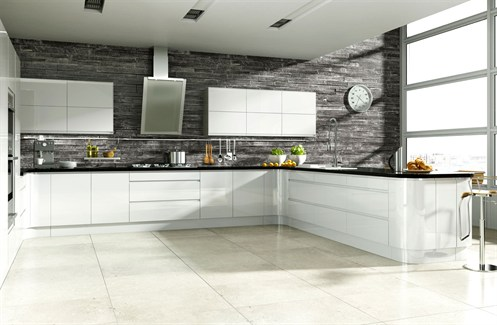 Linear Handleless White Hi-Gloss